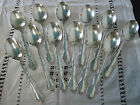 SET OF 12 VINTAGE WM ROGERS MFG EXTRA PLATE ORIGINAL SOUP SPOONS BEAUTIFUL