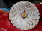 Antique  Meissen Porcelain  Plate With drawings of flowers