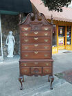 Fantastic American Mahogany Chippendale Ball & Claw Highboy 20th century