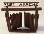 Vintage Marx or Mego 1970s Fort Apache Play Gate & Doors in Chocolate Brown