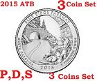 2015 P D S 3 Quarters set America the Beautiful Blue Ridge Parkway coin