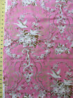Lovely Pink RJR Robyn Pandolph Hope Cove Toile Birds Nest Floral French Chic YD