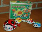 70s VINTAGE WIND UP LADY BUGS (MAM & BABIES) TIN LITHO INSECT BEATLE BOX JAPAN