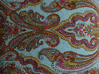 NEW LUXURY VIBRANT BOHEMIAN PRINT COTTON QUILT BLUE PINK ORANGE YELLOW QUEEN