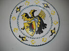 VTG DRESDEN HERALDIC CABINET PLATE HAND PAINTED BLACK  YELLOW  UNUSUAL