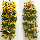 Plastic Artificial Sunflower Garland Flower Vine Home Wedding Decor Floral DIY