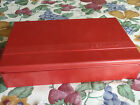 vintage bernina large red accessories box