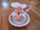 Old Vintage 50th Anniversary Lefton China Hand Painted Mini Pitcher