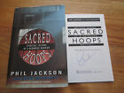 PHIL JACKSON signed SACRED HOOPS 1995 Book CHICAGO BULLS LOS ANGELES LAKERS