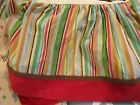 Cocalo Alphabet Soup nursery bedding Baby CRIB SKIRT red brown striped