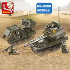 Sluban B0288 Army Rocket Launcher Tank Minifigures Enlighten Building Block Toy