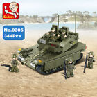 Sluban B0305 Army Merkava MBT Tank Car Minifigures Enlighten Building Blocks Toy