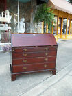 Grand Mahogany Chippendale Slant Front Secretary with Brass Hardware18th century