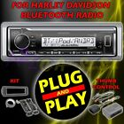 FOR 1998 2013 HARLEY DAVIDSON TOURING PLUG  PLAY BLUETOOTH MP3 AUX RADIO STEREO