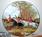 Elizabethan Staffordshire Hand Decorated Fine Bone China England Fox Hunt Plate