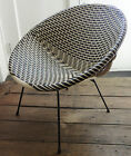 Vintage Black & White Pot Chair - Metal frame - 1950's - Retro