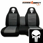 91-03 Ford Ranger 60-40 Black Charcoal Seat Covers Skull Punisher. 10 Colors