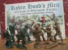 BARZSO MARX TIMPO CASTLE PLAYSET ROBIN HOOD'S MEN 8 60MM PLASTIC TOY SOLDIER