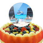 Beach Chair Cruise Ship Caribbean Ocean Cake Top Topper