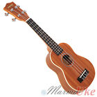 Mahogany Soprano Ukulele by Aiersi with Cream Binding and Aquila Strings