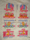 VINTAGE 80s CIRCUS ANIMAL FLOWER TRAIN CUT OUT & SEW PILLOWS or STUFFED SOFT TOY