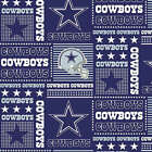 NFL DALLAS COWBOYS PATCHWORK COTTON FABRIC MATERIAL, From Fabric Traditions NEW