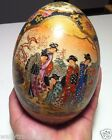 Vintage Japanese Satsuma Porcelain Hand Painted Egg - Oriental Collectible EXC