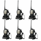 6pcs Walkie Talkie KST K10 Single Band UHF Monitor 8W 16CH VOX Two-Way FM Radio