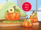 Collections Etc Pumpkin Napkin Holder And Salt & Pepper Shakers