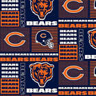 NFL CHICAGO BEARS PATCHWORK COTTON FABRIC MATERIAL, From Fabric Traditions NEW