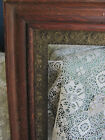 ANTIQUE OAK WOOD GOLD GESSO ORNATE MIRROR PAINTING PICTURE FRAME, 23