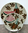 Red Wing Pottery Tampico Dinner + Bread & Butter Plate - Modern Mid-Century