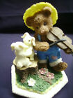 HERITAGE HOUSE-PLAYFUL TEDDY BEARS-COUNTRY FRIENDS-MUSIC BOX*Love Story*