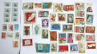 Vintage Soviet Russian 50 Postage Stamps USSR CCCP