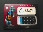 # 25 Cam Newton 2011 Topps Inception Jumbo Patch Red Auto RC #AJP-CN 3-Color