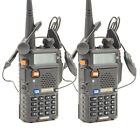2 Pcs BAOFENG UV-5R 136-174/400-520MHz Dual-Band DTMF CTCSS FM Two-way Radios
