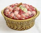 Sarreguemines France Fruit Cherry Basket Antique Majolica Art Pottery French