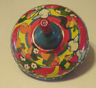 Antique 1940s 1950s Bryan Ohio Art Co Spinning Tin Toy Top Made in U.S.A.