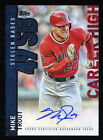 2015 Topps MIKE TROUT #CH-MT1 Autograph Baseball Card Auto Career High