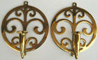 Pair of Vintage VIRGINIA METALCRAFTERS Spouting Water Candle Wall Sconces #16-1