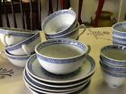 TIENSHAN (1) Rice Blue Flower Cup & Saucer (8 avail)
