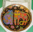 Laurel Burch FLOWERING FELINES Franklin Mint Cat Collector Plate Box w/COA