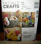 McCalls 6610 Ragtime Craft Pattern Crochet Rag Rug Basket Wall Pocket UC 1993