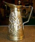 Vintage ELPEC Brass Pitcher Decorative Colonial Era Theme Made in England