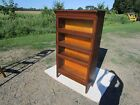ANTIQUE SIGNED GUNN C-1910 4 SECTIONAL OAK STACKING BARRISTER BOOKCASE ORIGINAL