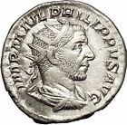 Philip I the Arab 245AD Rome mint Silver Ancient Roman Coin Security i52140