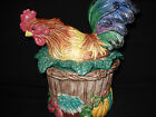 Fitz And Floyd Rooster Canister Coq Du Village 10.5