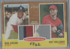 2011 TOPPS HERITAGE DUAL PATCH BOB GIBSON ROY HALLADAY #57 62