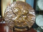 Bronze Plaque with Angel/Cherub Kissing Victorian Style Woman Beautiful Patina