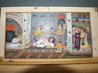 7. Southeast Asian Mughal Persian Manuscript Ptg Nobles Grieving for Friend